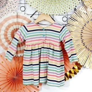 Hanna Andersson 100% Cotton Striped Dress 70